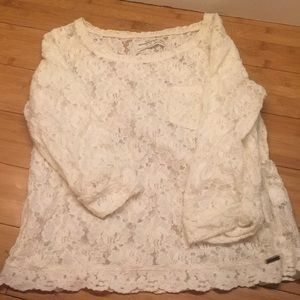 Lace top cropped